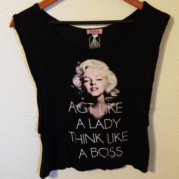 c2afc5aa Palladium Entertainment Tops | Marilyn Monroe Crop Top | Poshmark